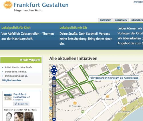 Frankfurt gestalten Startseite