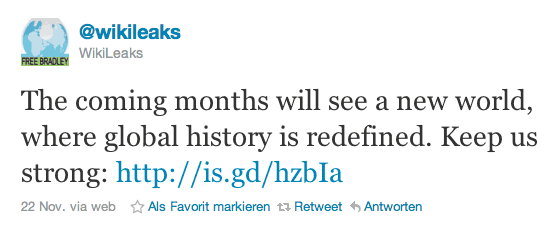 wikileaks tweet november 2010
